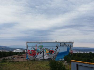 Ina predstavila najveći oslikani spremnik u Hrvatskoj