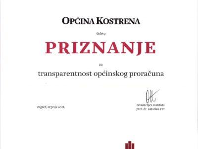 Kostrena među vodećim općinama po transparentnosti