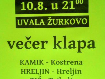 Večer klapa u Žurkovu 10. kolovoza 2018.
