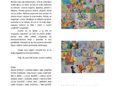 """Najava izložbe Mićega pinela """"Umjetnost u životu djeteta"""""""
