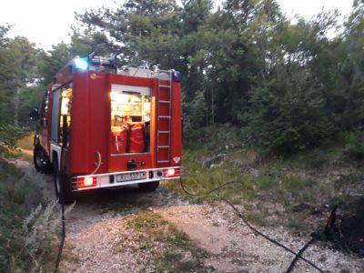 Ugašen požar na Trim stazi
