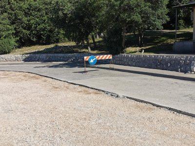 Prva faza sanacije ceste Urinj – Sv. Barbara